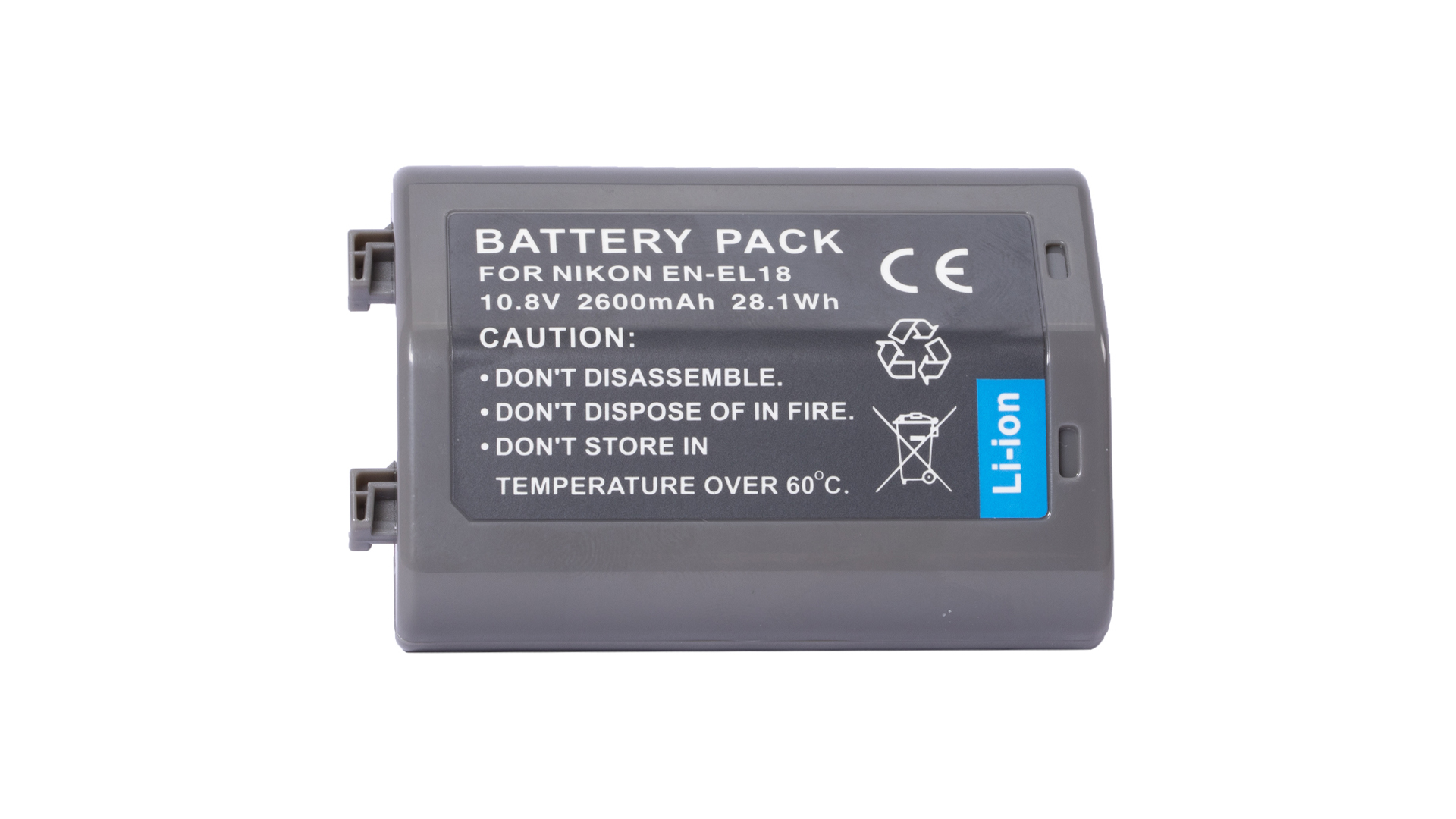 BrowdyTech BRD ENEL18   Batteria digitale EN EL18 10.8V 2600mAh per Nikon D4/D4S/D4X DSLR   Batterie per Nikon