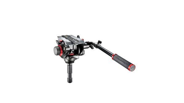 Manfrotto 504HD | Testa video Manfrotto 504HD con semisfera da 75mm e leva telescopica | Teste video
